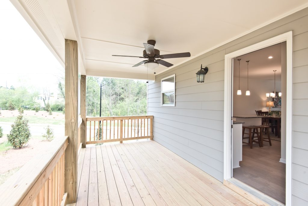 a deck in cantrell crossing townhomes in kennesaw