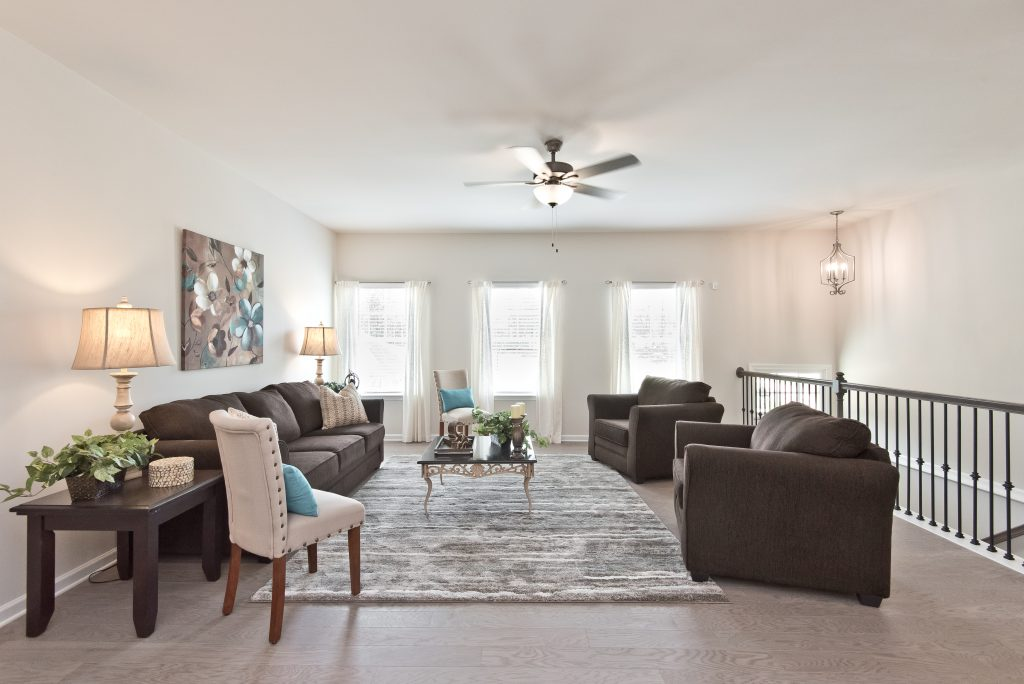 new homes in kennesaw at cantrell crossing living room