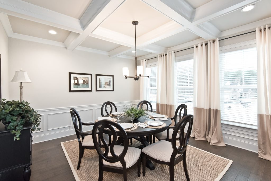 A dining room with all the features in Gunnerson Pointe