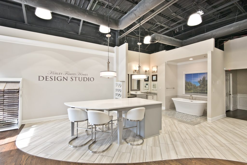 The Kerley Family Homes Design Studio, chairs at a countertop