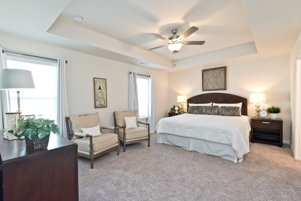 Master bedroom in the Axley floor plan