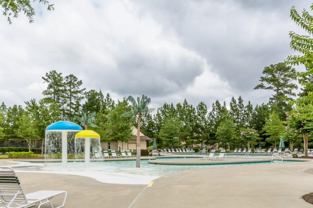 a swimming pool in a Kerley Family Homes swim and tennis community