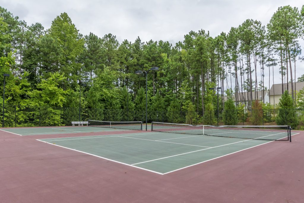 tennis courts at the Enclave