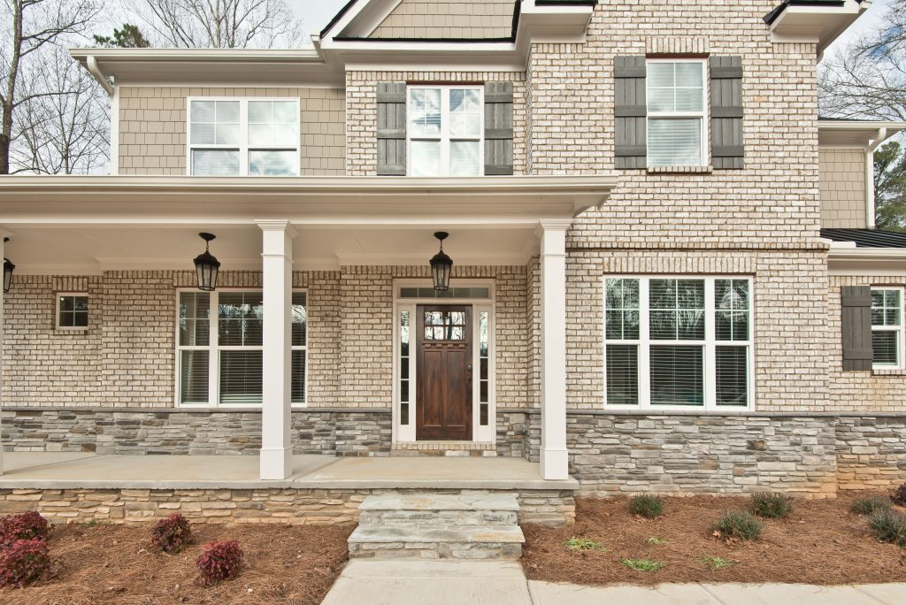 a new construction home in cobb county at Gunnerson Pointe