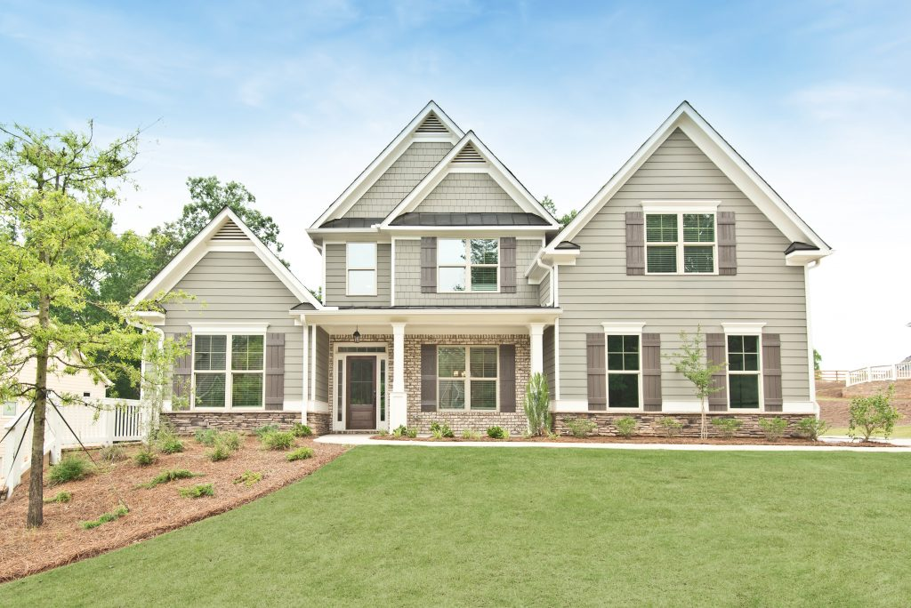Home Exterior in River Rock by Kerley Family Homes