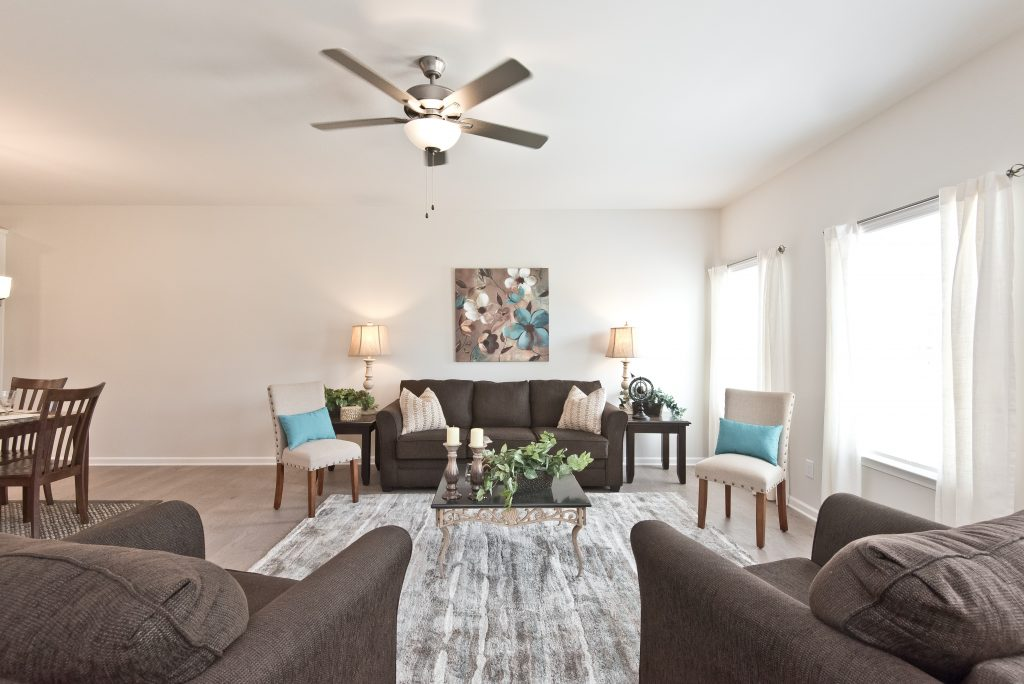 Living room in Cantrell Crossing Townhomes