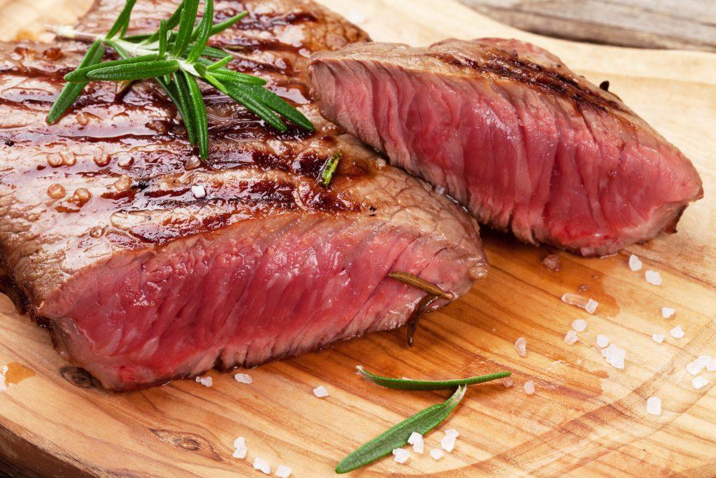 a cut, grilled steak karandaev ©123rf