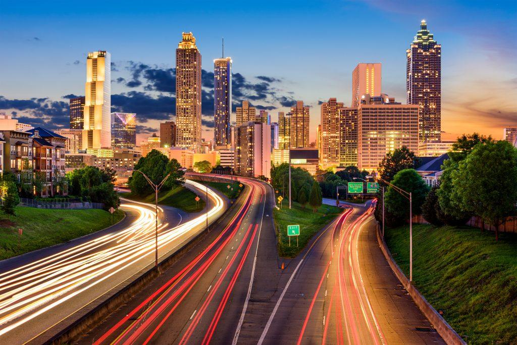 A skyline of Atlanta sepavo © 123rf