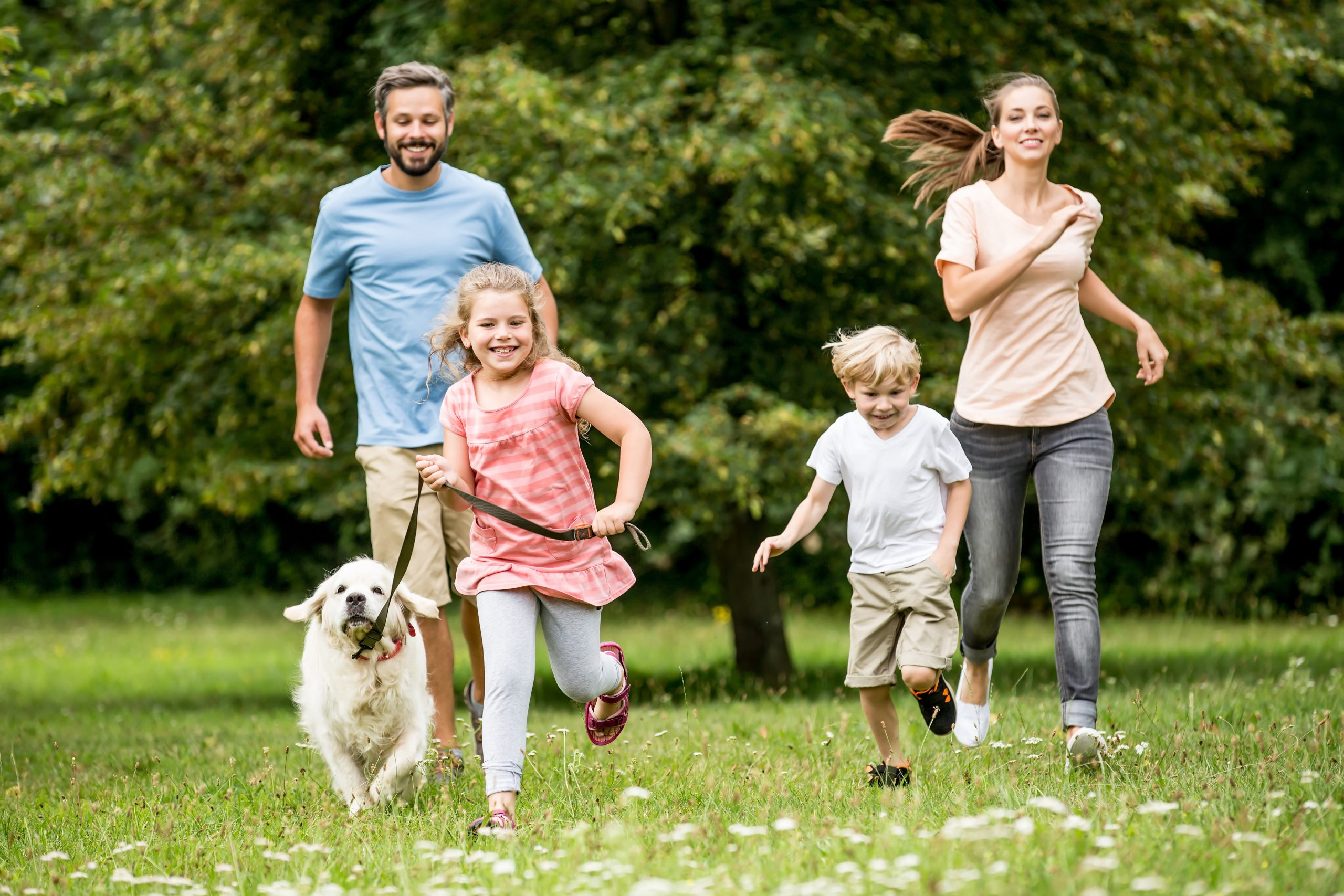 Cobb County Park, Family with Dog