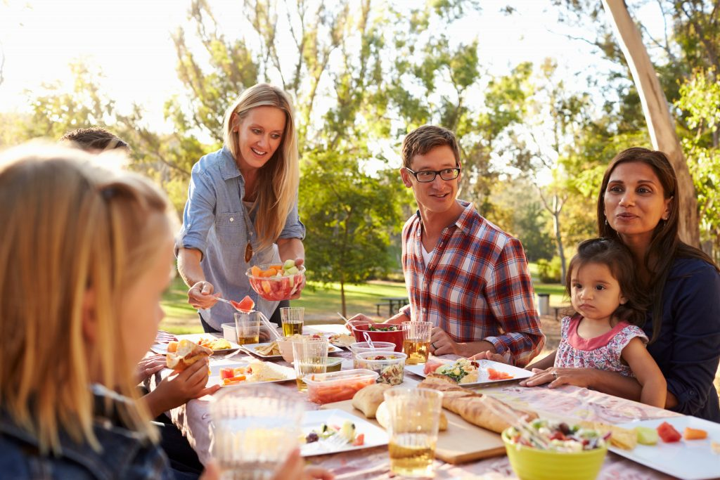 A family picnic, like one you can have on Kennesaw Mountain stockbroker © 123rf