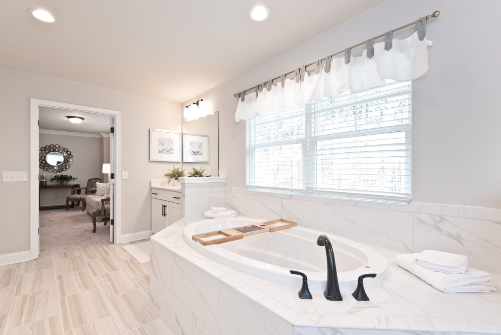 a master bathroom in Gunnerson Pointe