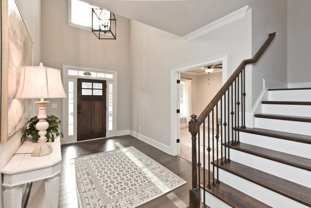 the entryway in one of the Gunnerson Pointe Homes in West Cobb