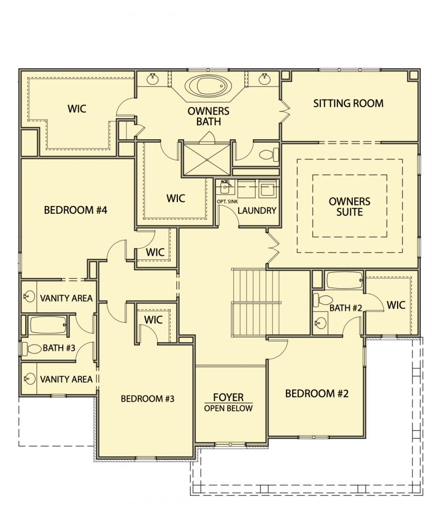 second floor of the Washington plan