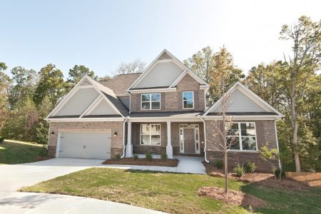 An exterior of the homes for sale in Douglasville at Reserve at Chapel Hill