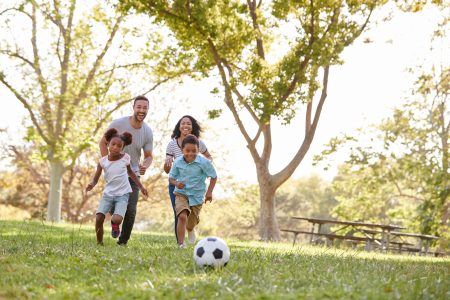A family playing and finding fun things to do in fall in Ball Ground Ga stockbroker © 123rf